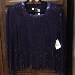 St John Purple knit Top